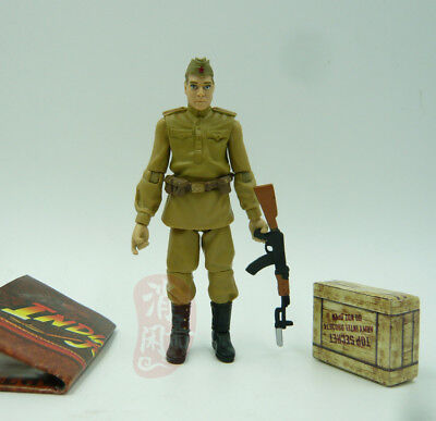INDIANA JONES RAIDERS OF LOST ARK 3.75'' Russian Soldier Figure Collect toy