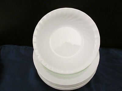 Set of 8 WHITE ENHANCEMENTS by  CORELLE Soup Cereal Bowl 7.25""
