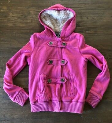 c2b3c818ff1838 XS Extra Small Victoria s Secret PINK Sequin Bling Sherpa Lined Hoodie  Jacket