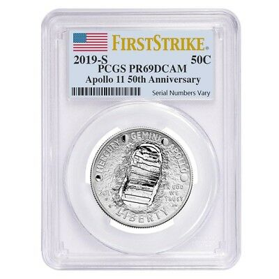 2019 S Apollo 11 50th Anniversary Proof Half Dollar Comm. PCGS PF 69 FS