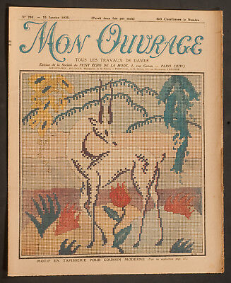 'mon Ouvrage' French Vintage Newspaper 15 January 1935