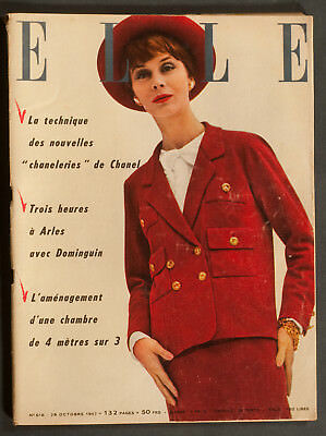 'elle' French Vintage Magazine 28 October 1957