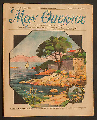 'mon Ouvrage' French Vintage Newspaper 1 September 1932
