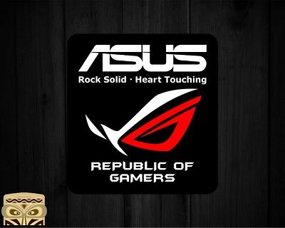 Decal Sticker  Aufkleber Adesivi Autocollant Asus Republic Of  Gamers  Laminated