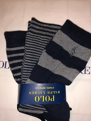 🎁New Ralph Lauren Boys Socks Size 9-11