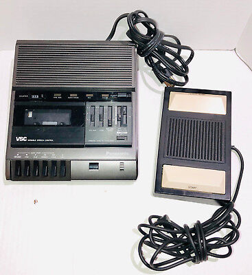 Panasonic RR-830 Standard Cassette Tape Transcriber W/ RP-2692 Foot Pedal TESTED