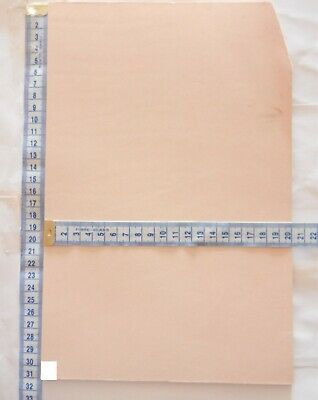 Natural Craft Leather 4Mm Thick Veg Tan  Tooling Leather Hide Offcuts