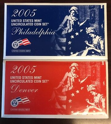 2005 P & D US MINT SET Uncirculated Philadelphia & Denver U05 Sealed (BIN:1)