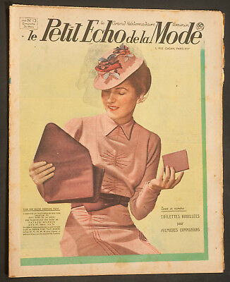 'echo De La Mode' French Vintage Newspaper 26 March 1939