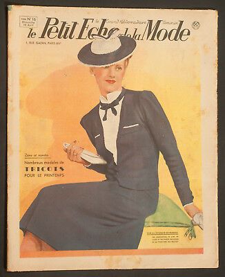 'echo De La Mode' French Vintage Newspaper 16 April 1939