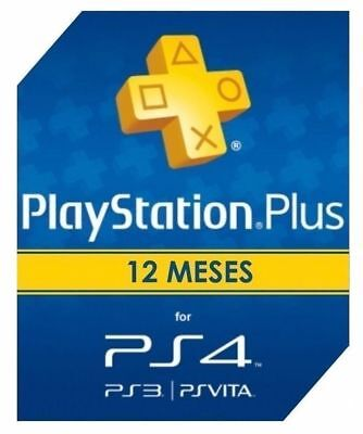 PlayStation Plus / PSN Plus / 12 Meses / 1 Año / Lee descripcion jugar online!