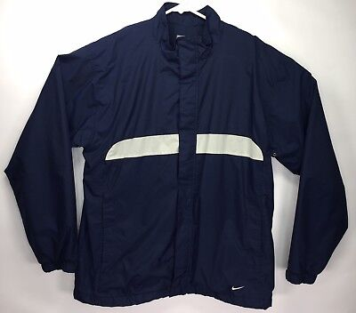 a22a757c Nike Men's XL Zip Up Athletic Track Jacket White & Blue Stripes Long Sleeve