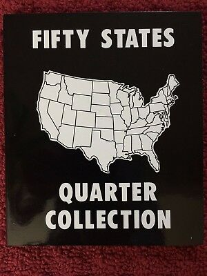 1999-2008 US state quarters complete collectible set of 50 coins in folder