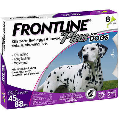 Frontline Plus For Dogs 45to88, 45-88 lbs. 8 Month Supply z