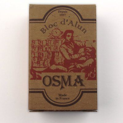 Osma After Shave Alum Block Styptic 75g facial toner Potassium Alum France
