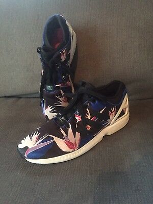 Adidas Torsion Black Floral Print Men Size 9.5 Shoes In Great Condition fe238b2fcf