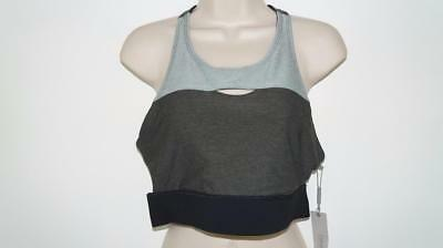 aedbb2b1eeb55 NWT Womens Calvin Klein Grey Work Out Sports Bra Top Size L MSRP  45  5839