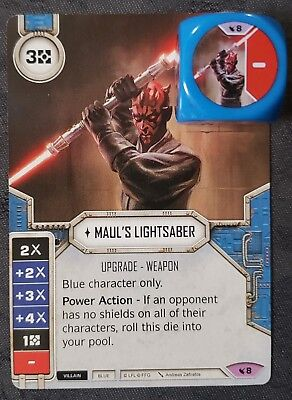 Star Wars Destiny Legacies Darth Maul/'s Lightsaber #8 Legendary w// Premium Die