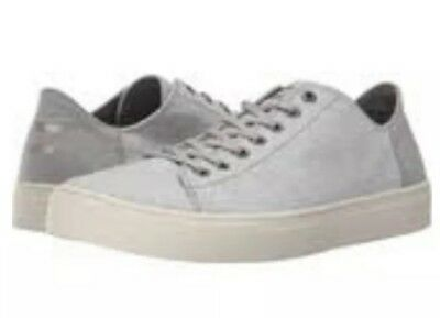f65f4e3c0ac Toms Drizzle Grey Men s Paseo Sneakers Cotton Twill Lace Up Shoe size 9