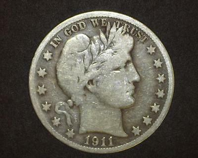 1911-S Barber Half-Dollar Very Good Plus    10~393446-Lb615Ra