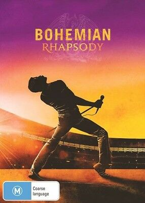 BRAND NEW Bohemian Rhapsody (DVD, 2019) R4 Movie Queen Freddie Mercury