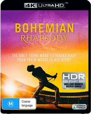 BRAND NEW Bohemian Rhapsody (4K UHD, 2019) *PREORDER Movie Queen