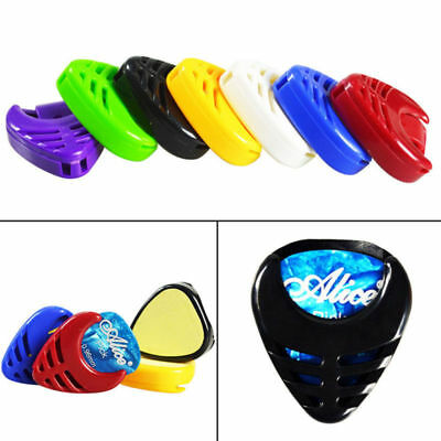 Portable Guitar Pick Plectrum Holder Box Acoustic Heart Shaped Plactic hot sale