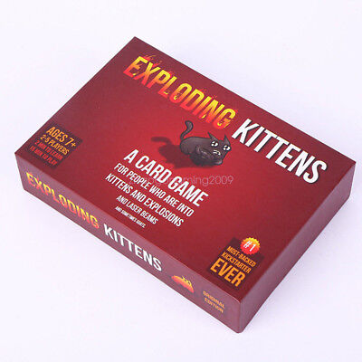 Exploding Kittens Original Edition Adults Kids Family Party Card Game Poker Toy