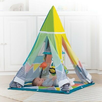 Infantino Grow With Me Playtime Teepee Play Mat Tent & BABY PLAY MAT Teepee PlayHouse Kids Indian Tent Children Indoor ...