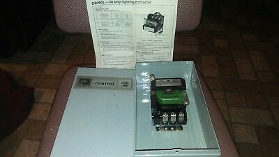 Ge Cr260L, 3 Pole 30 Amp Lighting Contactor 115 Volt Coil Nema 1 Enclosure