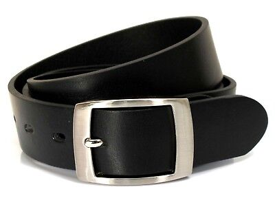 Mens Real Genuine Leather Black Belt 1.25 Wide S-L Thick Long Casual Jeans CM0