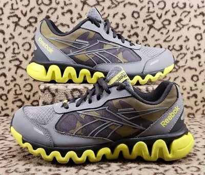 Reebok Zig Lite Youth Kids Athletic Running Shoes Size 5Y Gray Yellow J97946 b76287393