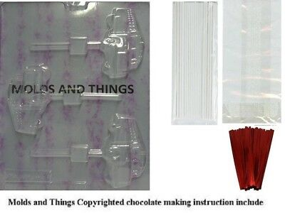 SCHOOL BUS LOLLY Chocolate Candy Mould With © Candy Making Instruction + 50
