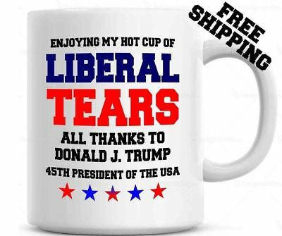 Donald Trump 45TH PRESIDENT POTUS Liberal Tears Coffee Mug