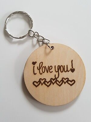 Porte clé Keychain Ø45mm ♥ I Love You j'aime Paris Saint Germain PSG Sleutelhangers