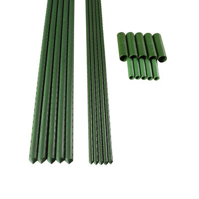 60/90cm Plastic Sticks Plant Support Garden Canes Support Stakes with Connectors