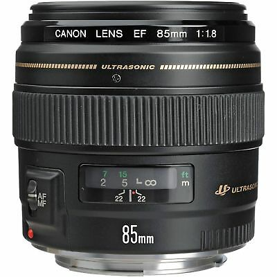 Canon EF 85mm f/1.8 USM Medium Telephoto Lens fits Canon SLR Cameras - Fixed