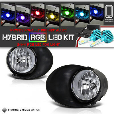 [Built-In RGB LED] Toyota Tundra SR5 07-13 Clear Front Fog Light Switch Assembly