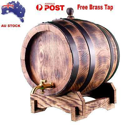 French Oak Barrel Charred 5Lt Rustic Keg for Home Brewing Ageing Port Whiskey
