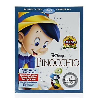 Pinocchio Walt Disney Signature Collection Blu Ray  Dvd Digital Slipcover New