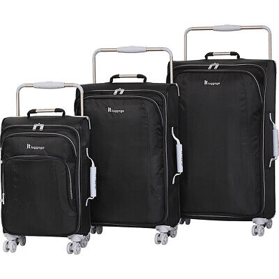 it luggage World's Lightest 8 Wheel 3 Piece Set 6 Colors Luggage Set NEW