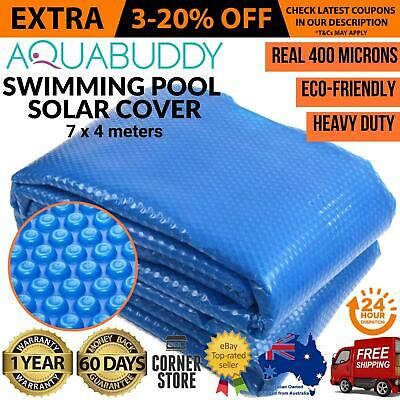 Solar Swimming Pool Cover Outdoor Bubble Blanket REAL 400 Micron Aquabuddy