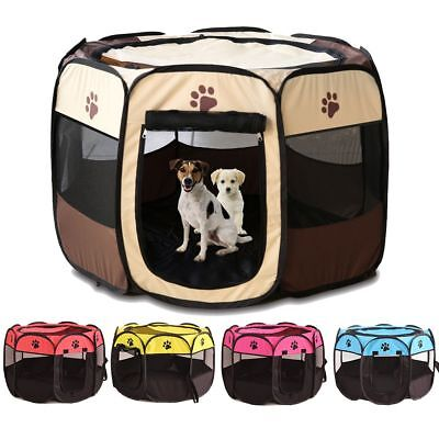 Portable Folding Playpen Pet Crate Room Puppy Exercise Kennel Cat Outdoor Cage