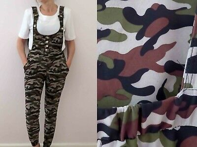 80's Khaki Camo Camouflage Overall Jumpsuit Small Buy 3 + items for FREE Post