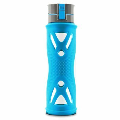 NEW Glass Water Bottle W/Silicone Sleeve - Sport,Drinking Glass Bottles 24 Ounce