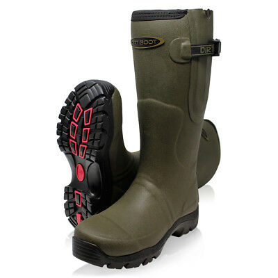 Dirt Boot Neoprene Fleece Lined Wellington Muck Wellies Thermal Winter Boots