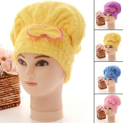 Girls' Super Absorbent Hair Drying Wrap Quick Dry Head Towel Cap Hat For Kids UK