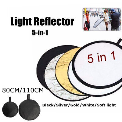 60-110cm 5 in 1 Photography Light Multi Collapsible Reflector Photo Studio Board