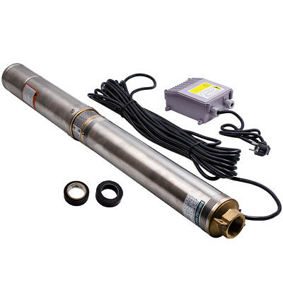 750w  Borehole Deep Well Submersible Water Pump Screw Pump Stainless steel 1 HP
