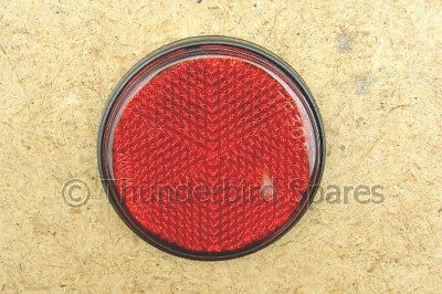 "Rear Reflector,Red, Round, Stick on Type, 2""- Pass that MOT!"